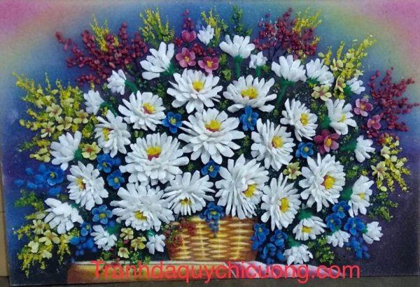tranh da quy cuc hoa mi mi